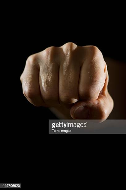 Studio shot of fist