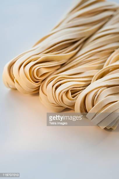 Studio shot of fresh linguini pasta
