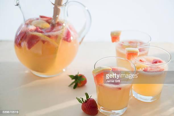 Studio shot of fruit cocktail