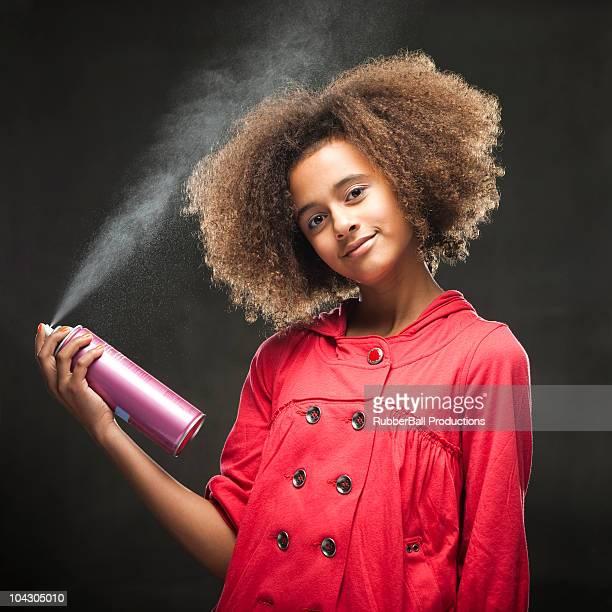 Prise de vue en Studio de fille (11 et 12) Asperger cheveux