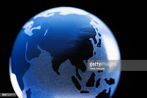 Studio shot of glass globe
