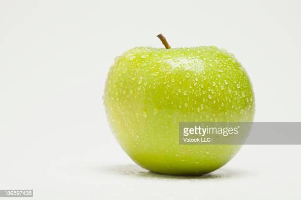 Studio shot of green apple