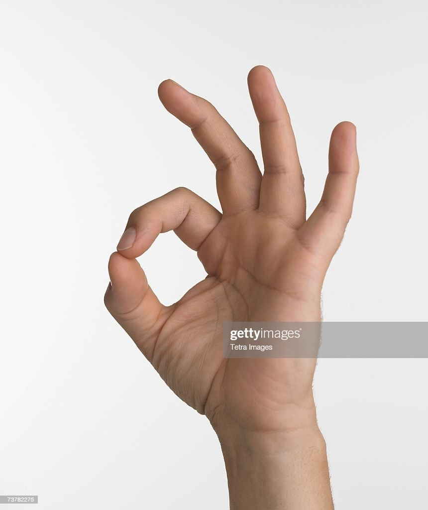 4 141 Ok Sign Photos And Premium High Res Pictures Getty Images