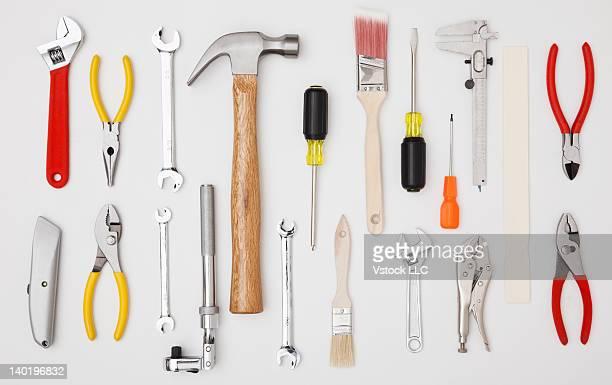 Studio shot of hand tools