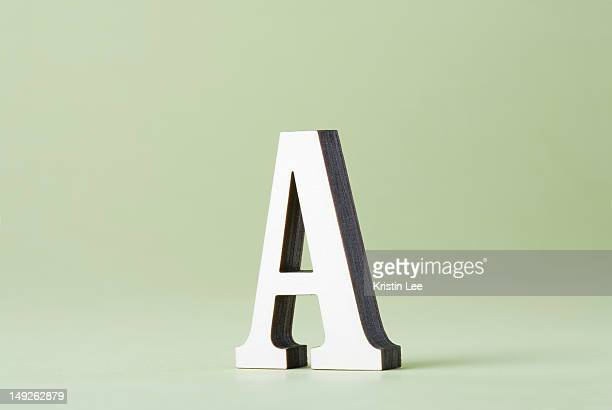 Studio shot of letter A
