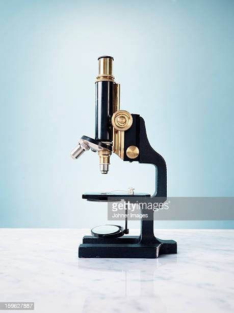 studio shot of microscope - microscope stock pictures, royalty-free photos & images