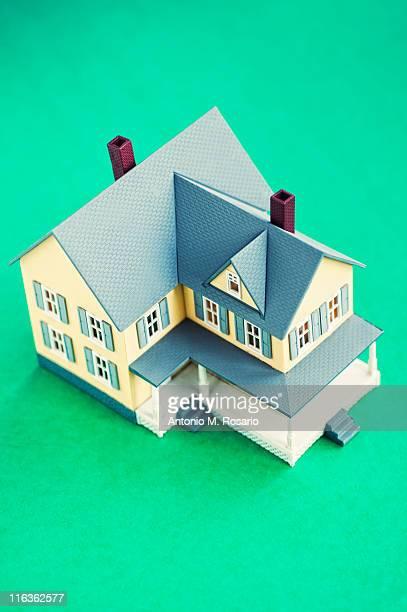 Studio shot of model of house