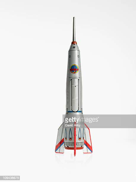 studio shot of model of spaceship - spaceship stock photos and pictures