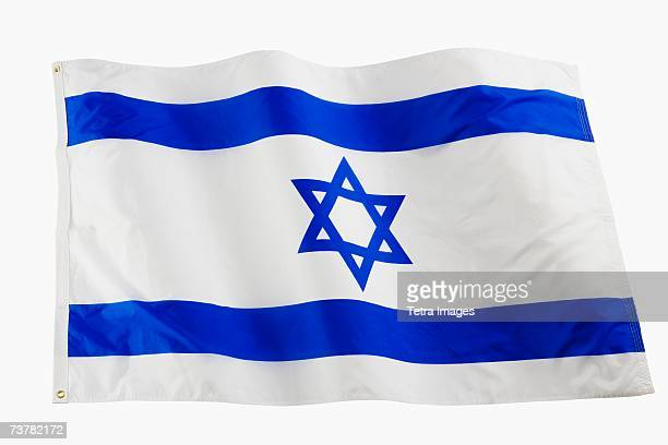 studio shot of national flag - israel flag stock pictures, royalty-free photos & images