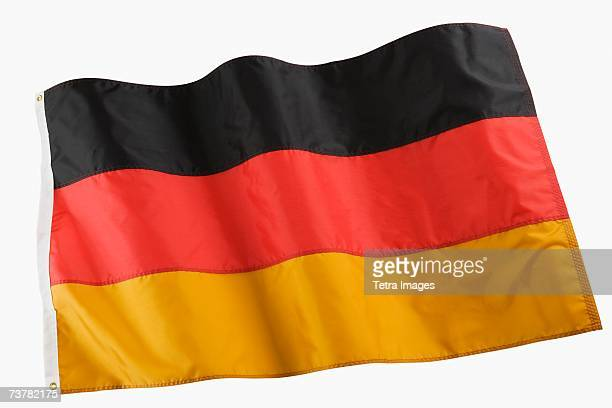 studio shot of national flag - german flag stock pictures, royalty-free photos & images