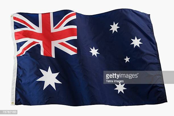 studio shot of national flag - australian flag stock pictures, royalty-free photos & images