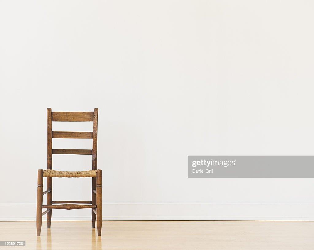 Studio shot of old chair : Foto de stock