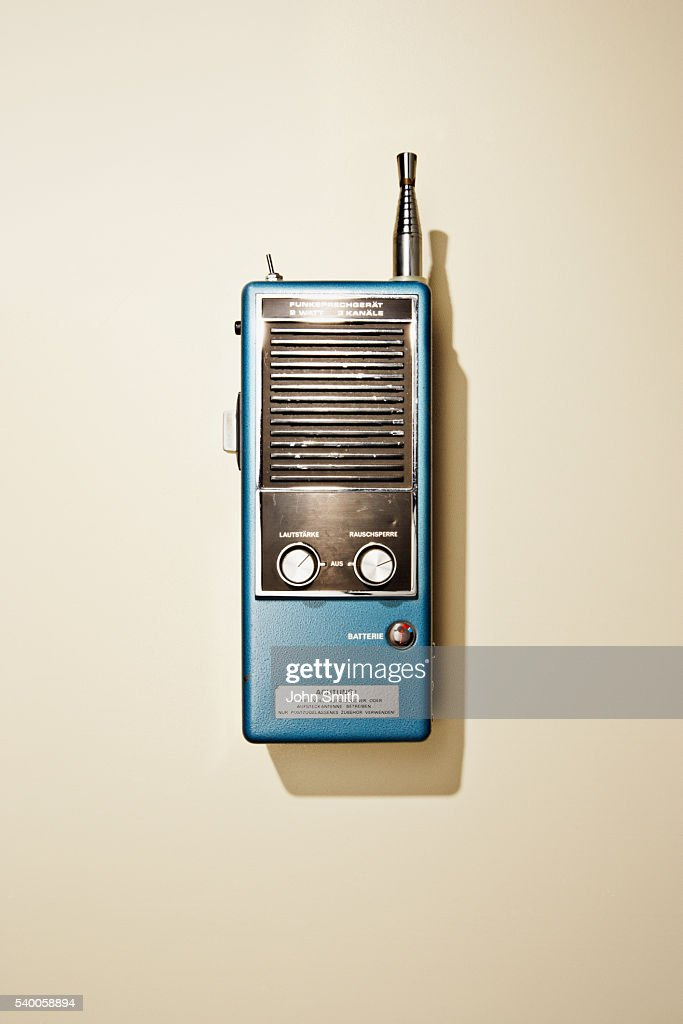 Studio Shot Of Oldfashioned Walkietalkie Stock Photo Getty Images