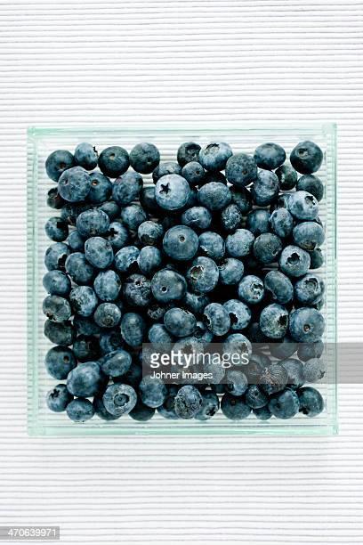 Studio shot of pile of bilberries