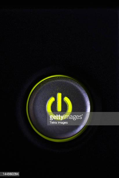 studio shot of power button - push button stock pictures, royalty-free photos & images