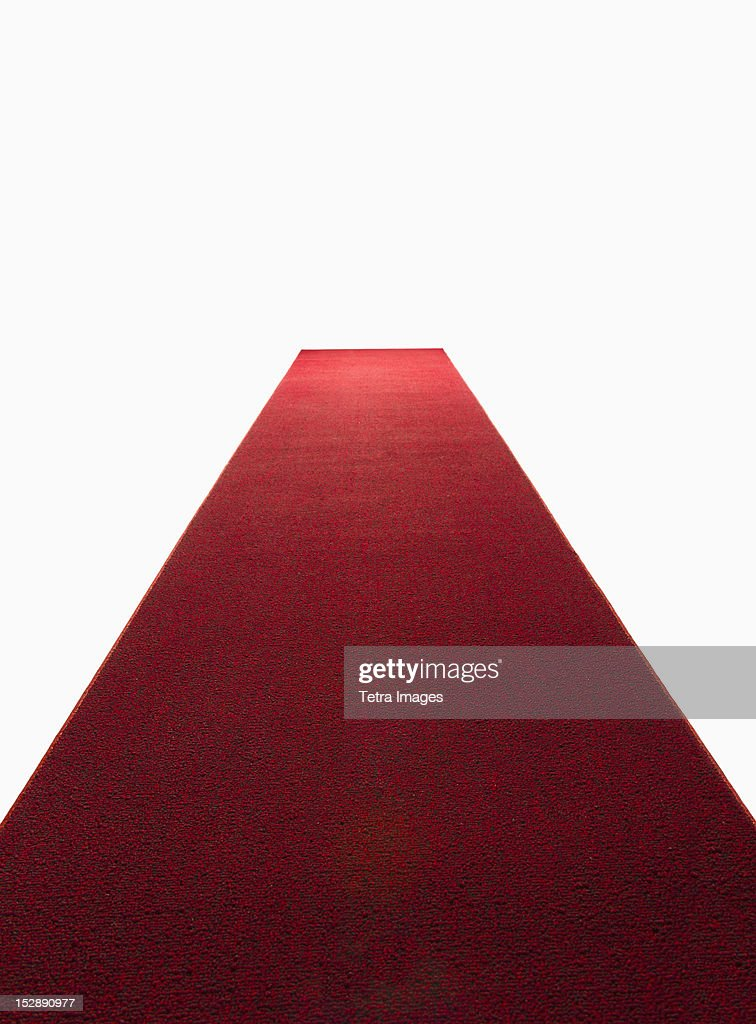 Studio shot of red carpet : Stock-Foto