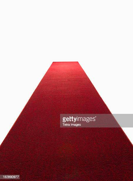 Studio shot of red carpet