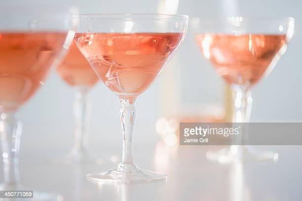 Studio Shot of rose champagne