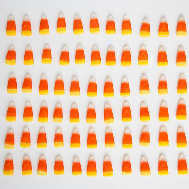 Studio Shot Of Rows Of Candy Corn Wall Art