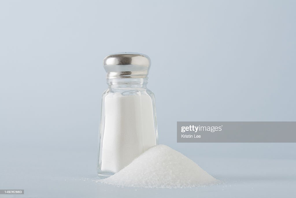 Studio shot of salt shaker : Stock Photo