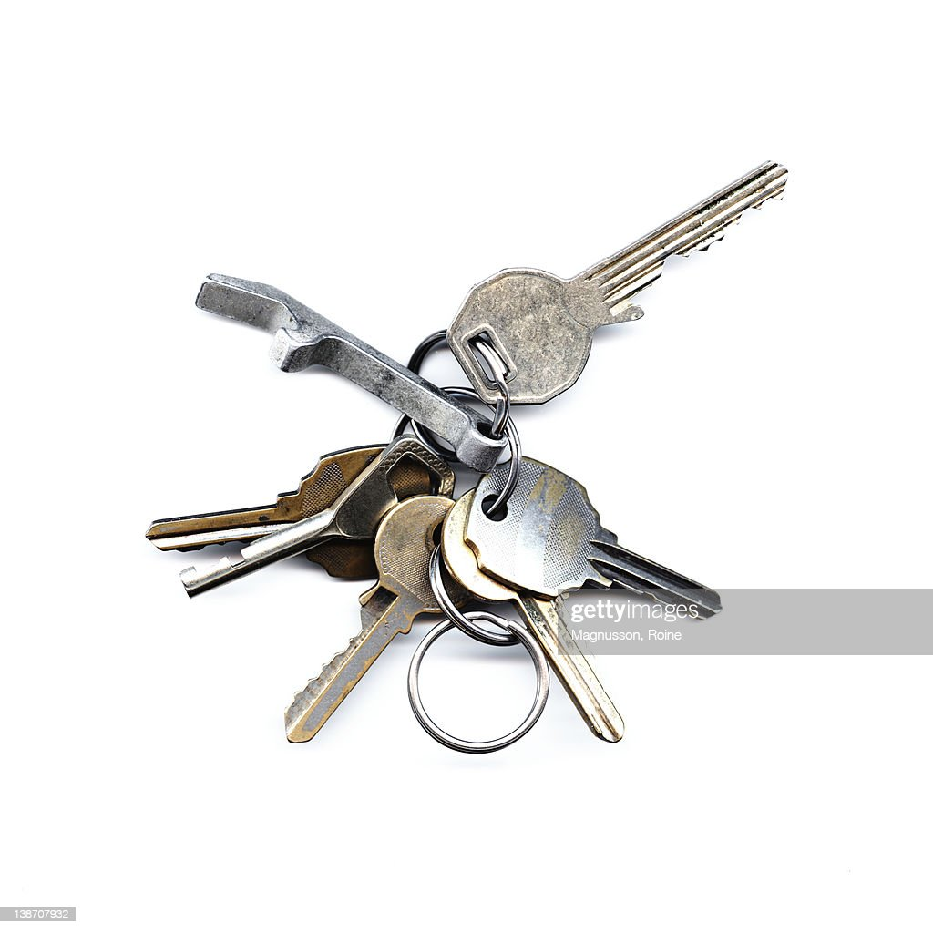 Studio shot of set of keys : Stock Photo