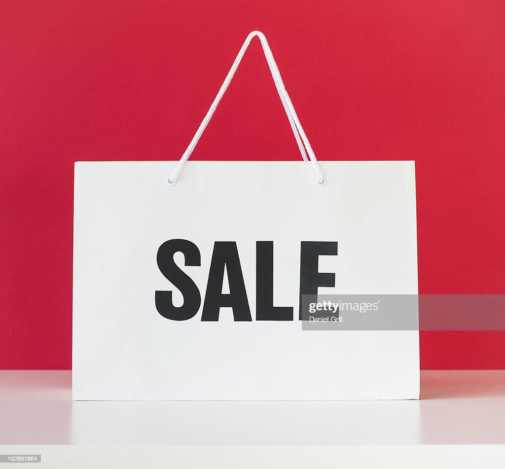 Studio shot of shopping bag : Stock Photo