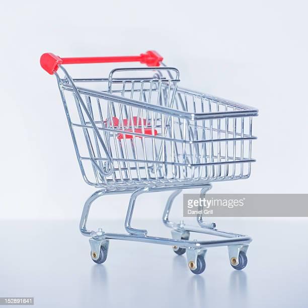 Studio shot of shopping cart
