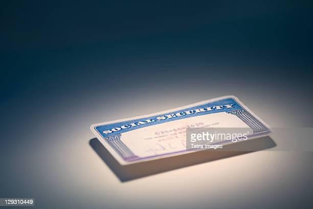 Studio shot of social security card
