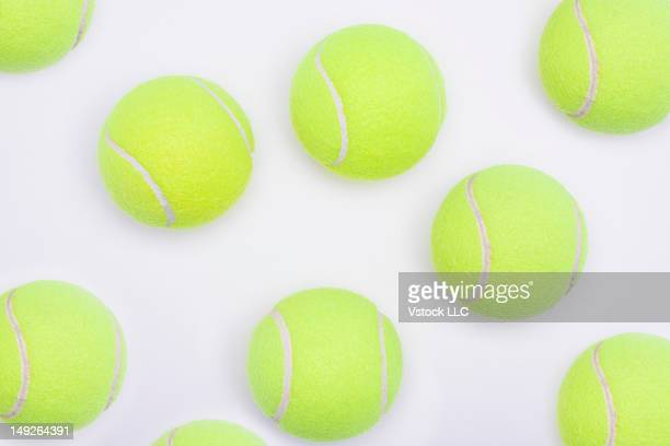 Studio shot of tennis balls