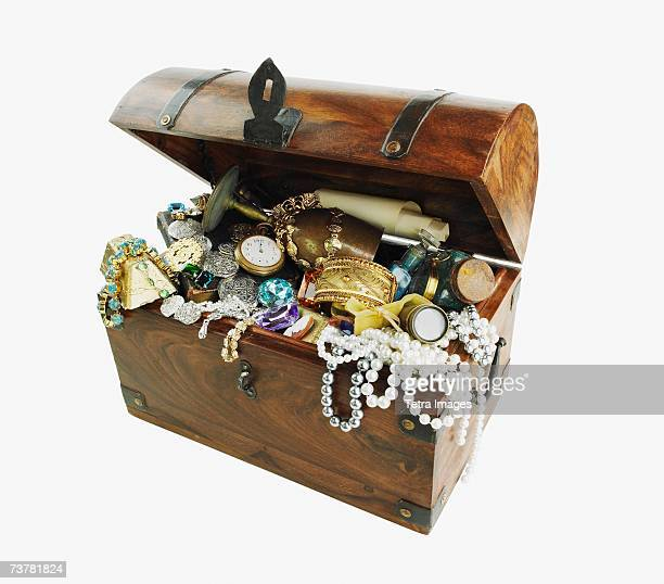Studio shot of treasure chest
