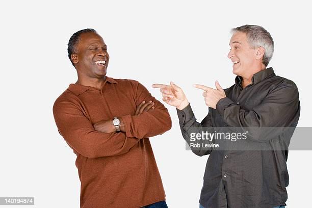 Studio shot of two mature men