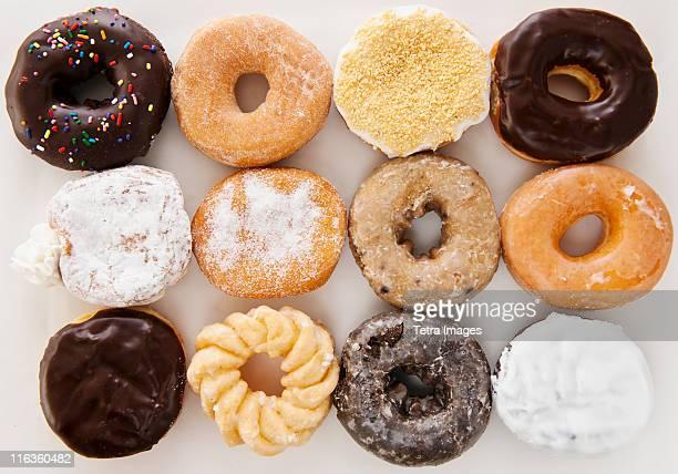Studio shot of various donuts