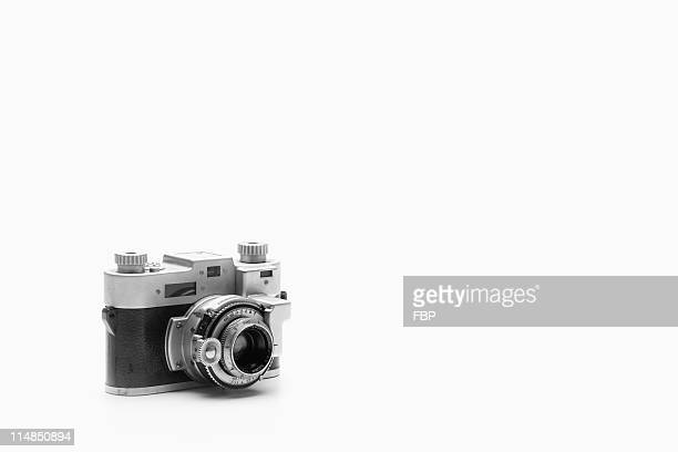 Studio shot of vintage camera
