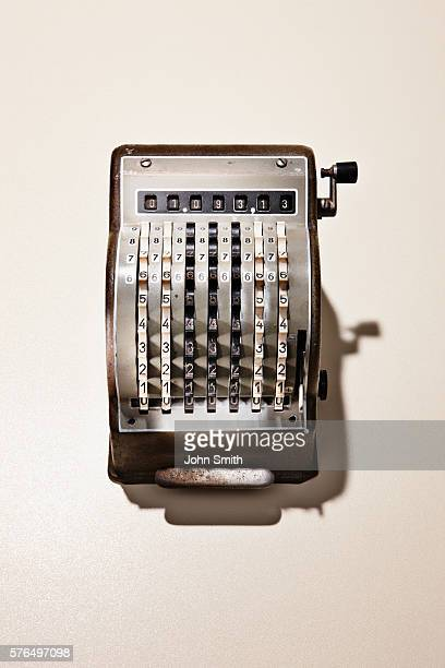 Studio shot of vintage cash register