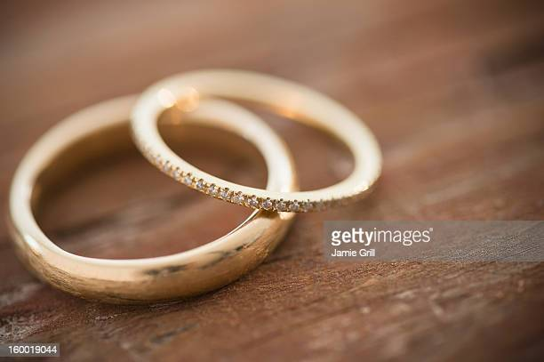 Studio shot of wedding rings