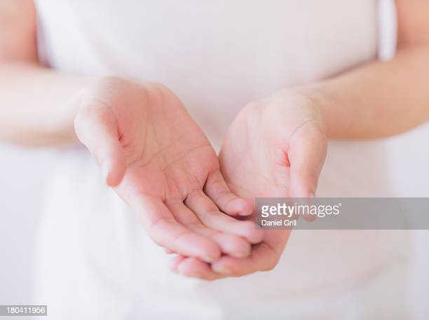 Studio Shot of woman's hands