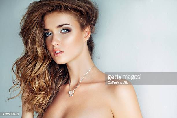studio shot of young beautiful woman - gorgeous babes stock photos and pictures