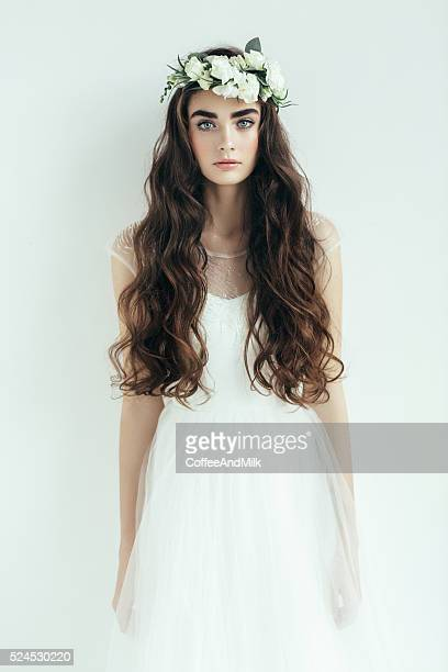 Studio shot of young beautiful woman