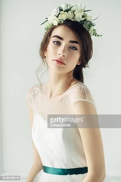 studio shot of young beautiful woman - tiara stock pictures, royalty-free photos & images