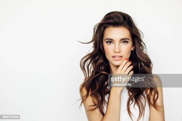 studio shot of young beautiful woman - beauty stock pictures, royalty-free photos & images