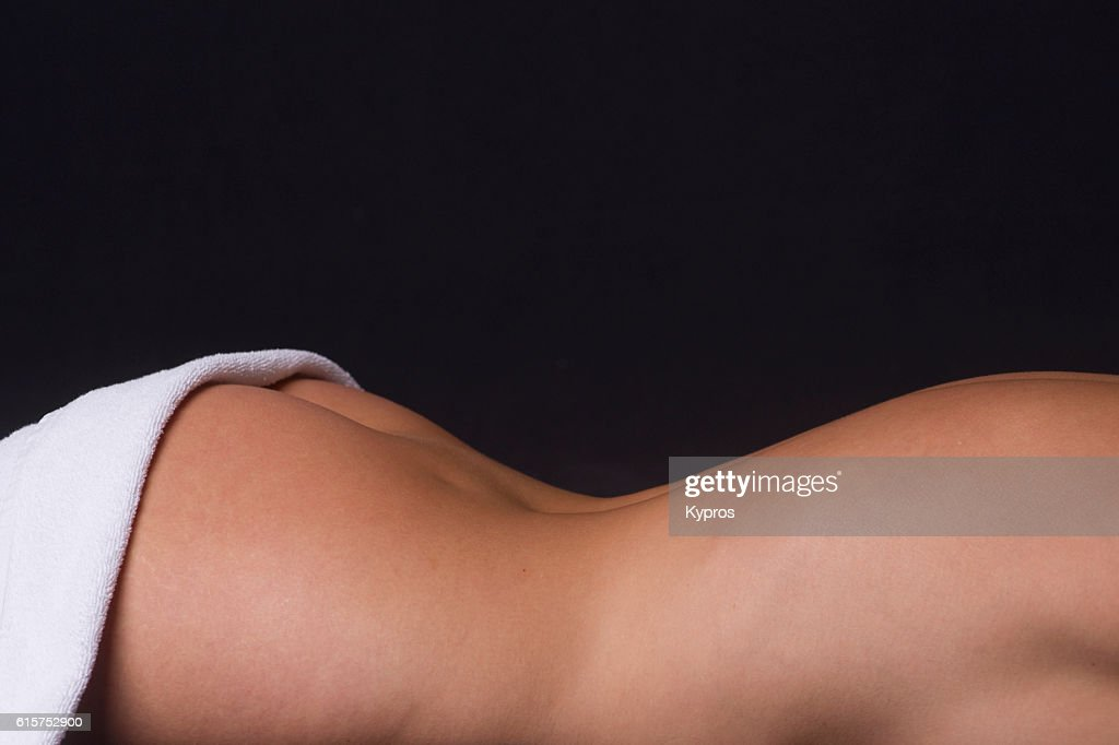 Studio Shot Of Young Woman With Bath Towel : Stock Photo