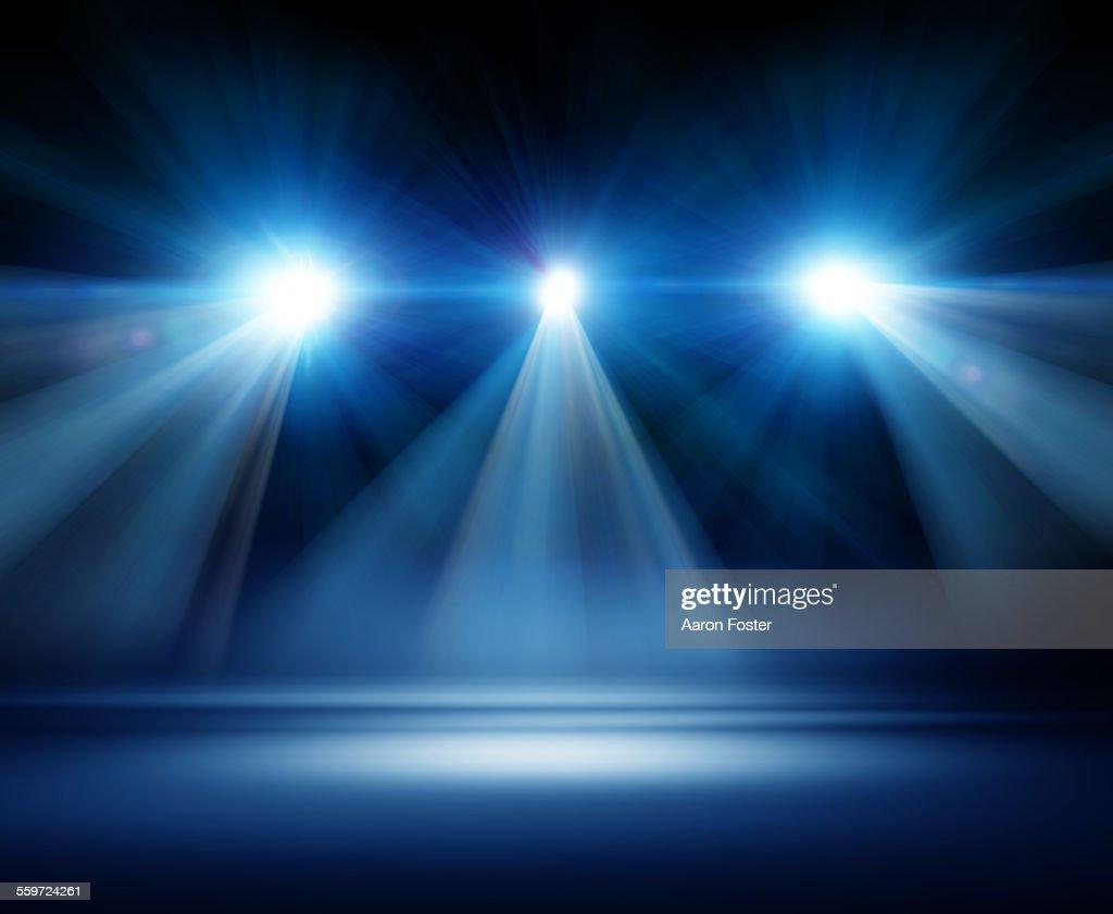 Studio Spot lights : Stock Photo