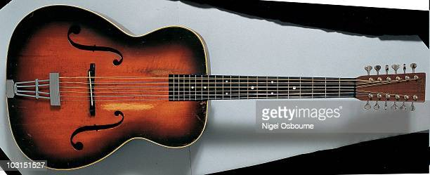 Studio Still Life Of A 1941 Martin F1S Twelvestring Archtop Guitar Photographed In The United Kingdom