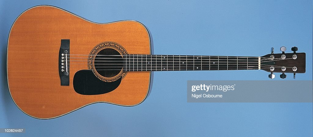 Studio still life of a 1977 Kay K-588 guitar, photographed in the United Kingdom.