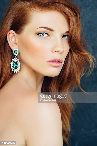 studioshot of young beautiful woman - green eyes stock pictures, royalty-free photos & images