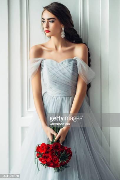 Studioshot of young beautiful woman