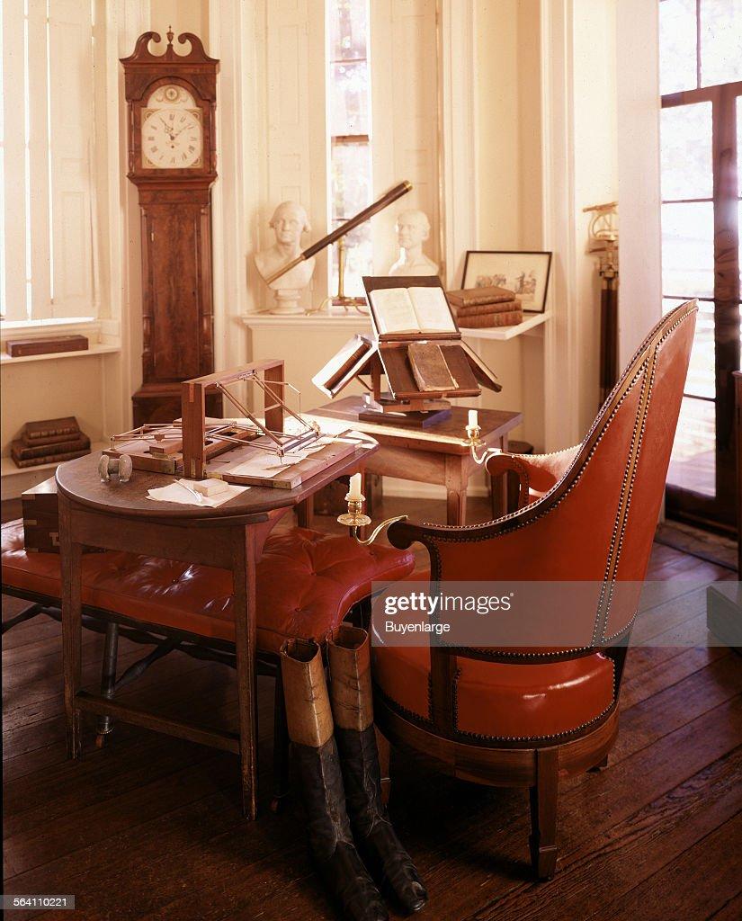 Study At Thomas Jefferson Monticello Home, Charlottesville, Virginia
