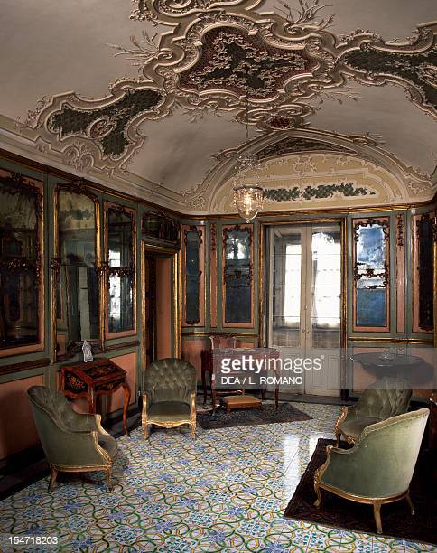 Study corner in the bedroom Palazzo Biscari Catania Sicily Italy 18th century