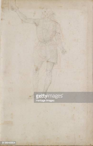 Study for a St John the Baptist late 15thearly 16th century Verso An Eye Dimensions height x width sheet 311 x 198 cm