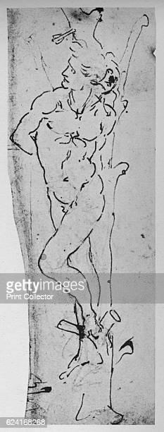 Study for a St Sebastian' c1480 From The Drawings of Leonardo da Vinci [Reynal Hitchcock New York 1945] Artist Leonardo da Vinci